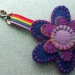 Hand Stitched Keyring/Bag C..